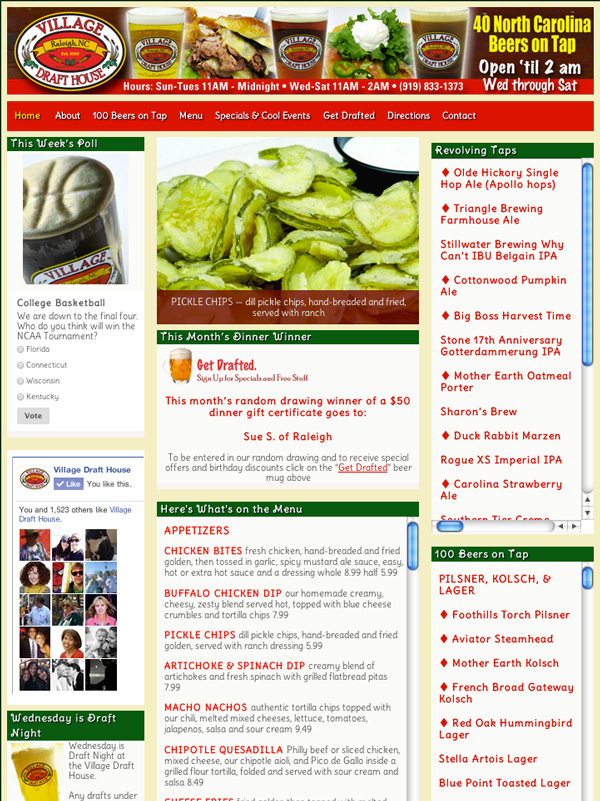 village-web-page